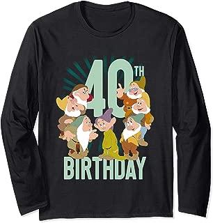 Snow White Dwarfs Group Shot 40th Birthday Long Sleeve T-Shirt