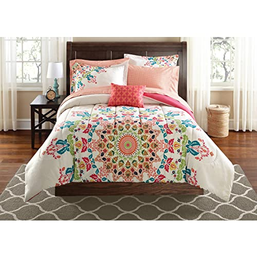 Elegant Teen Girls FULL Rainbow Unique Prism Pink Blue Green Colorful Patten Bedding  Set (8 Piece