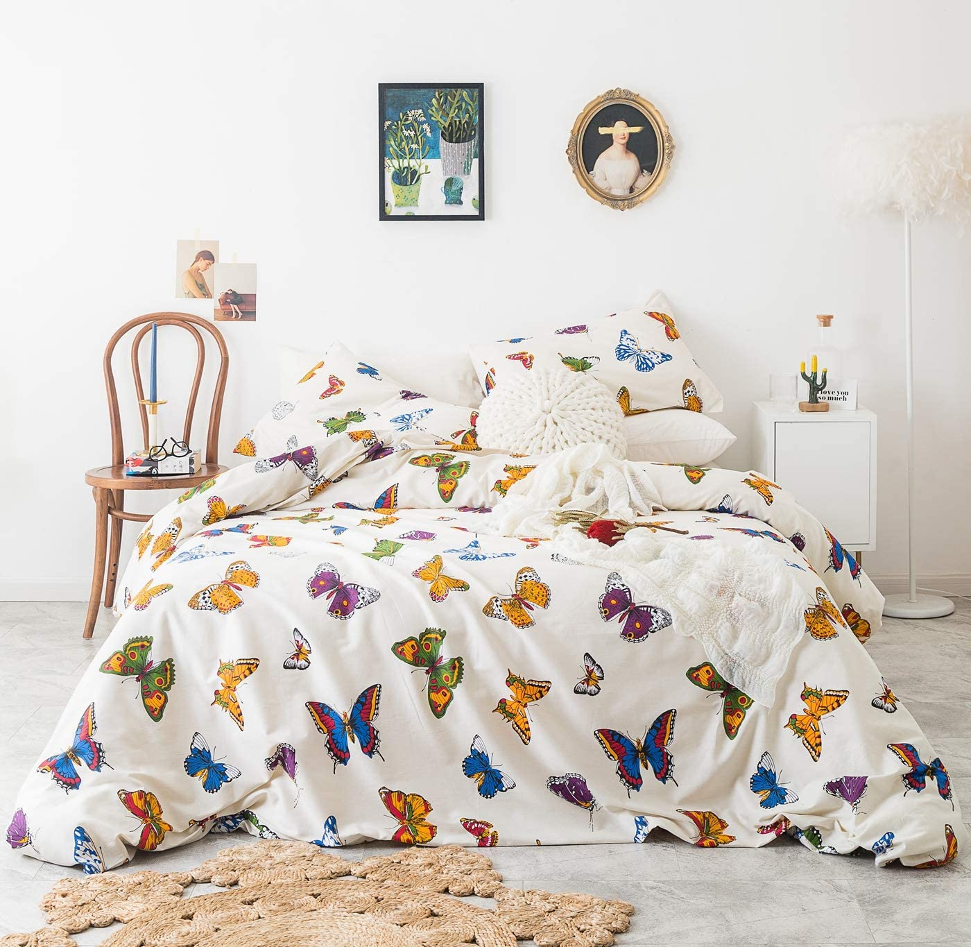 San Super sale Francisco Mall YuHeGuoJi 3 Pieces Duvet Cover Set 100% Bu Cotton Boho Size King