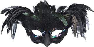 amscan Fantasy Raven Feather Masquerade Mask