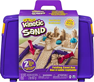 Kinetic Sand, Folding Sand Box with 2 Pounds of Kinetic Sand