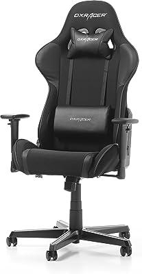 DXRacer Formula F11 Gaming Chair, Black, Piel sintética, Negro, 85.5x69.