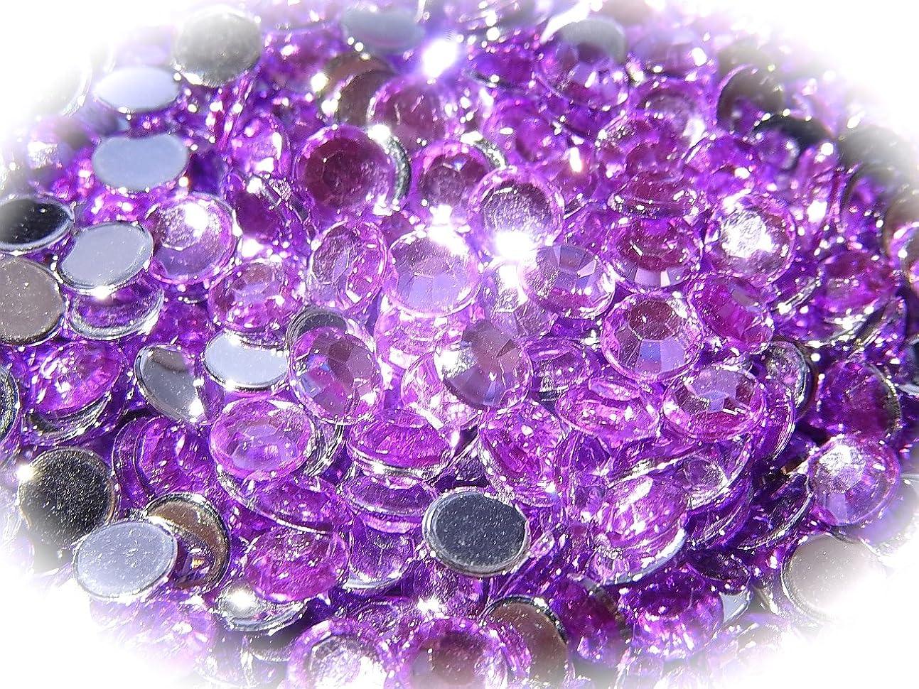 すばらしいです解明する所属【jewel】ls1 最高品質 ラインストーン 1.5mm?5mm グルーデコ (5mm(100粒), ライトパープル)