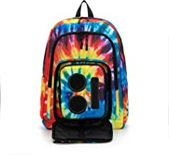 Bluetooth Speaker Backpack with 20-Watt Speakers & Subwoofer for Parties/Festivals/Beach/School. Rechargeable, Works with iPhone & Android (Tie Dye, 2019 Edition)