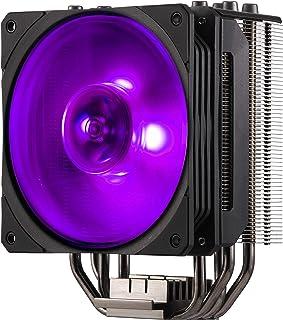 Cooler Master Hyper 212 RGB Black Edition Sistema Refrigeración - Elegante, Llamativo y Preciso - 4 Tubos de Calor Contacto Directo Continuo con Aletas, Ventilador SF120R RGB