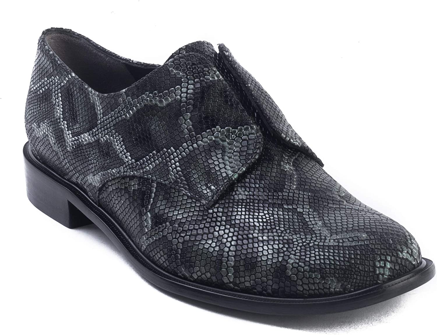 Robert Clergerie Women's 'Jam' Leather Laceless Oxford Green Reptile