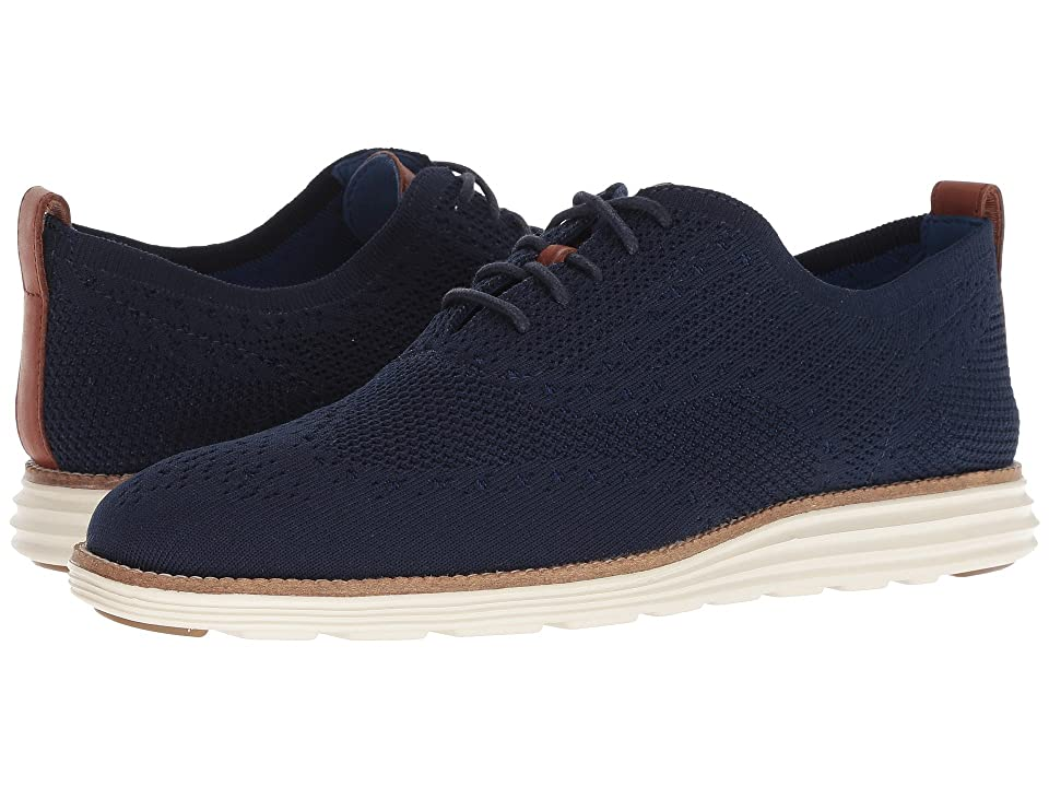 Cole Haan Original Grand Stitchlite Wingtip Oxford (Navy/Ivory) Men