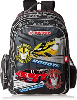 Hasbro Transformers School Backpack for Boys - Black