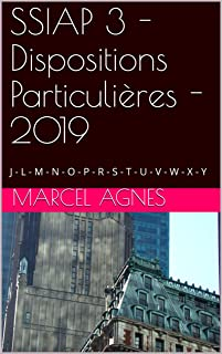 SSIAP 3 - Dispositions Particulières - 2019: J - L - M - N - O - P - R - S - T - U - V - W - X - Y (French Edition)