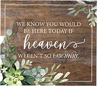 """We Know You'd Be Here Today Lush Greenery Memorial Sign / 9"""" x 8"""" Rustic Greenery Sign for Weddings, Anniversaries and Reu..."""