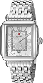 Michele Womens Deco Madison Diamond Dial Watch