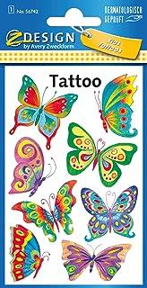 Tijdelijke tatoeages voor meisjes. Vlinder multicolor