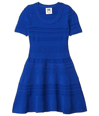 Milly Minis Textured Tech Dress (Big Kids) (Cobalt) Girl