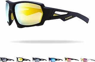 NAKED Optics - Gafas Deportivas Hombres y Mujeres, Gafas de Sol Deportivas con Lentes de Espejo, Gafas de Sol para Ciclismo, Carrera, triatlón, Voleibol de Playa y Senderismo…
