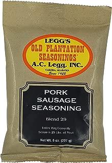 A.C. Legg Old Plantation Seasonings - Blend 29 - Pork Sausage Seasoning - 8 Ounce