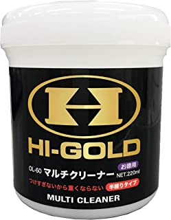 HI-GOLD(ハイゴールド) 野球用 マルチクリーナー (グローブ スパイク 革 エナメル製品向け) 半練りタイプ 大容量220ml ホワイト OL-60