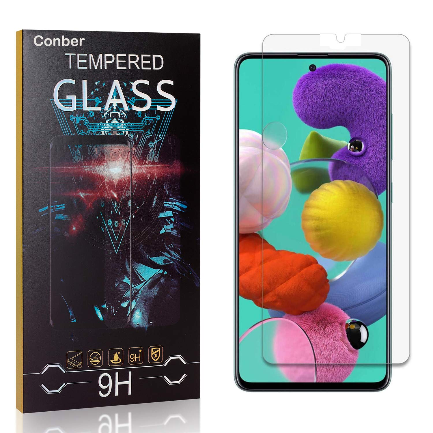 Conber Max 52% OFF Screen Protector for Samsung Galaxy 4 9H Jacksonville Mall Pack Temp A71