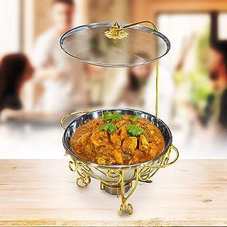 Raj Food Warmer, Gold, Steel