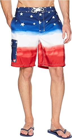 Watercolor Flag Ombre Kailua Swim Trunk