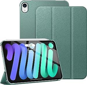 Supveco iPad Mini 6 Case 8.3 Inch 2021, Slim Trifold Stand Smart iPad Mini 6th Generation Cover [Supports The 2nd Gen Pencil Charging], Hard PC Back Shell for Apple iPad Mini 6th Gen, Midnight Green