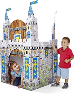 Melissa & Doug Medieval Castle Indoor Corrugate Playhouse (Over 5 Feet Tall)