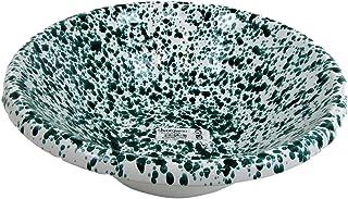 Viscio Trading 173969schizzata Salad Bowl, Terracotta, Ivory Green