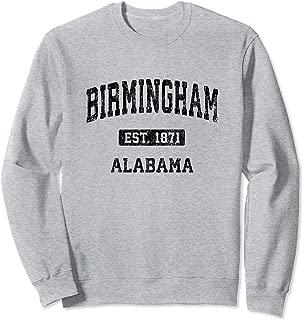 Birmingham Alabama AL Vintage Athletic Sports Design Sweatshirt