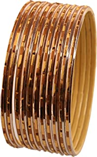 "Touchstone ""مجموعة الإسورة الملونة دستة سوار تقليدي ومبتكر مزخرف بالذهب الشراشيب الهندي مصمم مجوهرات أساور معدنية للنساء م..."