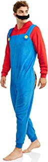 Men's Faux Fur Licensed Sleepwear Adult Costume Union Suit Pajama