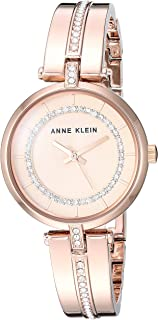 Anne Klein Women's Swarovski Crystal Accented Bangle Watch
