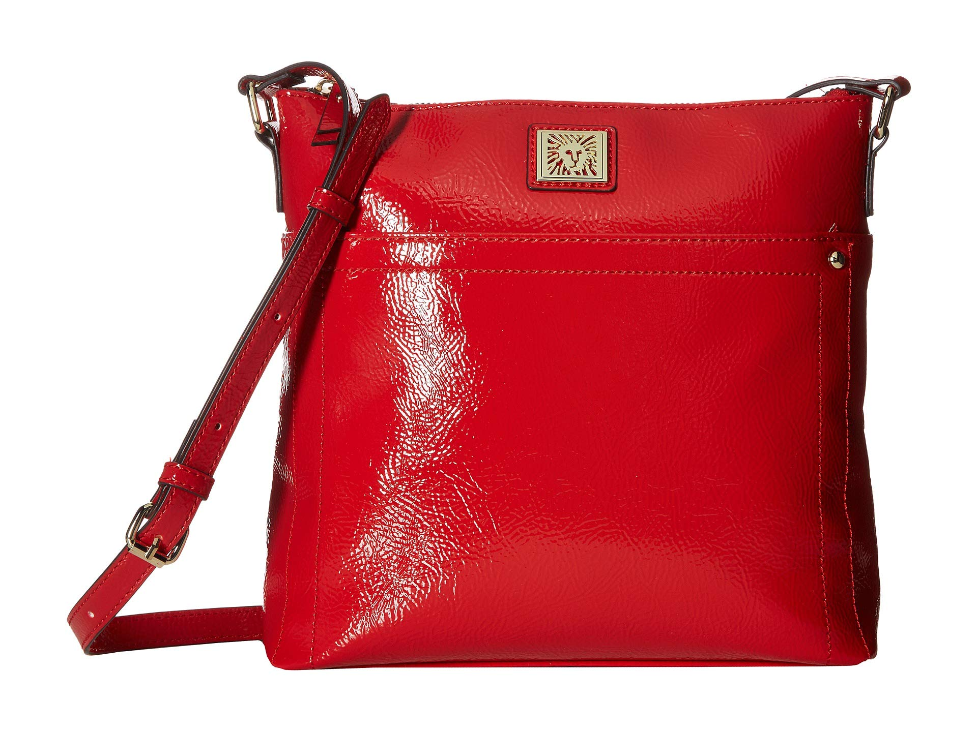 Red south Clay Anne Crinkle Klein North Crossbody wCxUnRSPq4