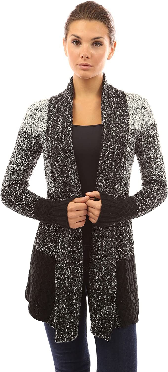PattyBoutik Women's Gradient color Marled Cardigan