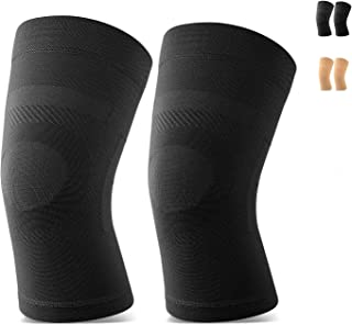 Knee Sleeves, 1 Pair, Could Be Worn Under Pants, Lightweight Knee Compression Sleeves for Men Women, Knee Brace Support for Joint Pain Relief, Arthritis, ACL, MCL, Sports, Injury Recovery, Black M