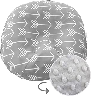 Water Resistant Removable Cover for Newborn Lounger   Unisex Gray Arrow Design   Minky Slipcover   Premium Quality Soft Wi...