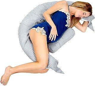 Koala Babycare Almohada para Embarazadas para Dormir y Amamantar U Pillow con Soporte Lumbar, Cervical - Cojin Maternidad con Cordones de Seguridad - re-Ductor de Cuna y paracho-ques - KHUGS Plus