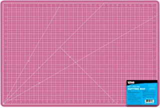 "US Art Supply 24"" x 36"" PINK/BLUE Professional Self Healing 5-Ply Double Sided Durable Non-Slip PVC Cutting Mat Great for ..."