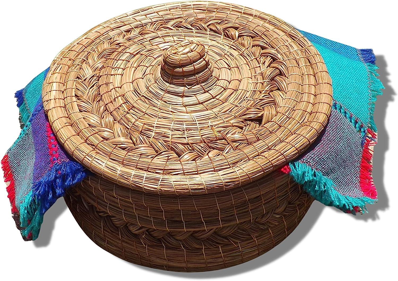 Tortilla Basket Warmer Handwoven with Cloth Tortiller Fees free Handloomed Japan Maker New