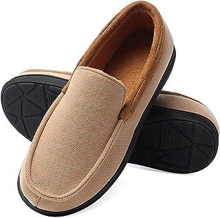 حذاء بدون كعب للرجال، إسفنج ميموري فوم مضاد للانزلاق ومضاد للانزلاق، حذاء مريح للقيادة في الأماكن الداخلية والخارجية