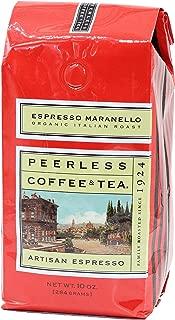 Peerless Whole Bean, Espresso Maranello Organic, 10 ounce (1 bag)