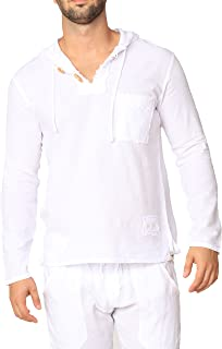 Pure Cotton Men's White Shirt- 100% Cotton Casual Hippie Shirt Long Sleeve Beach Yoga Top | The Perfect Summer Shirts for Men