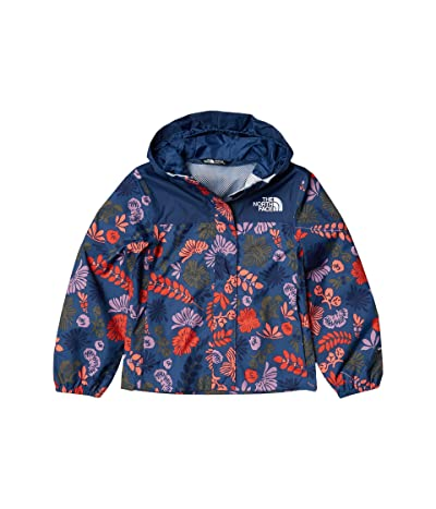 The North Face Kids Resolve Rain Jacket (Little Kids/Big Kids) (Lavender Mist Wallflower Print) Girl