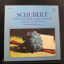 Schubert, Walter Klien - Piano Sonatas, Complete Volume III - Lp Vinyl Record