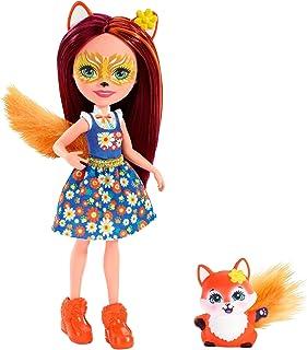 Enchantimals FXM71 Felicity Fox Doll (6 Inch), and Flick Animal Friend Figure, Multicolored