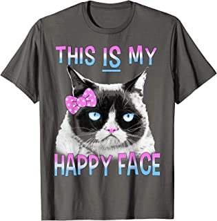 This Is My Happy Face Cute Bow Graphic T-Shirt