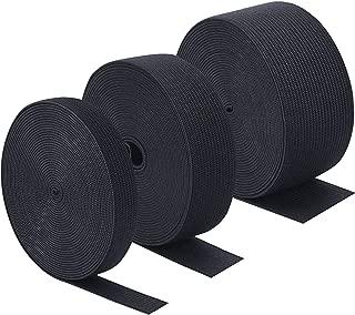 lusata 4-inch Wide Black Knit Elastic Spool Heavy Stretch High Elasticity Knit Elastic Band 3 Yard