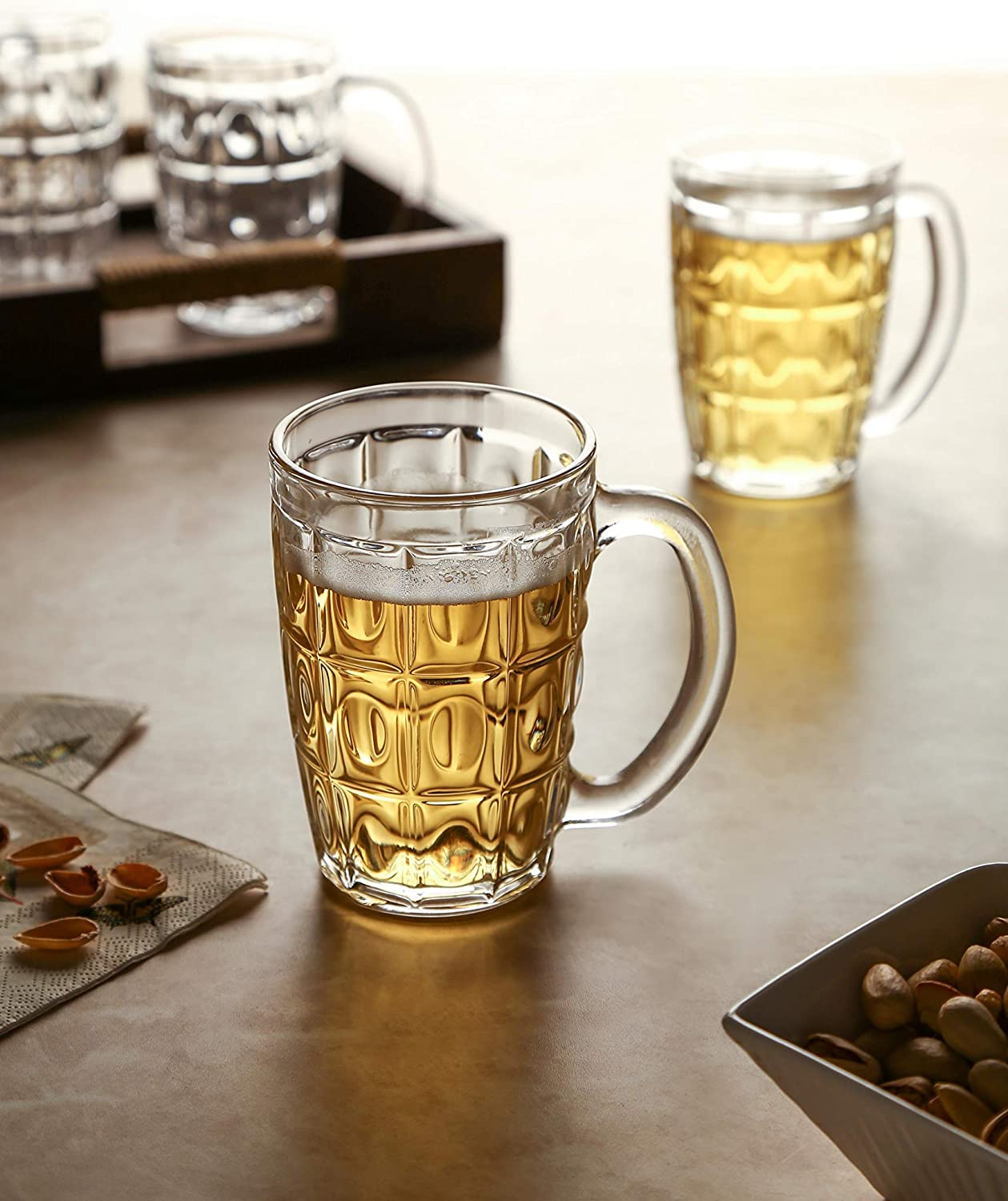 KITTENS 無料 Classic Dimpled 格安 価格でご提供いたします Beer Glasses Of 4 Set -
