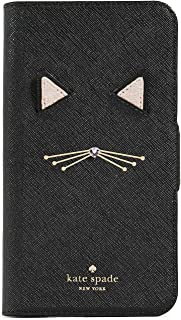 Kate Spade New York Cat Applique Folio iPhone XR Case, Black Multi, One Size