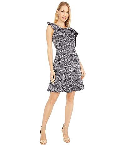 MICHAEL Michael Kors Jacquard Flounce Fit-and-Flutter Dress Women