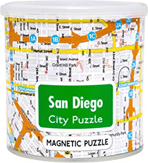 GeoToys 100 Piece Magnetic Puzzle, United States West Coast Cities GEO233
