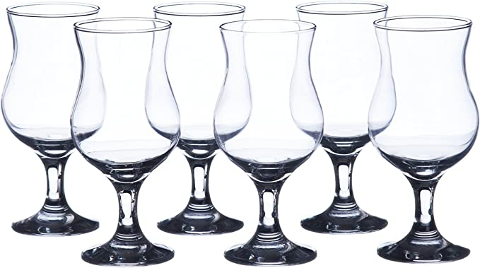 G.E.T Carefree Shatterproof Cocktail // Hurricanes Glasses 14 Ounce Set of 12